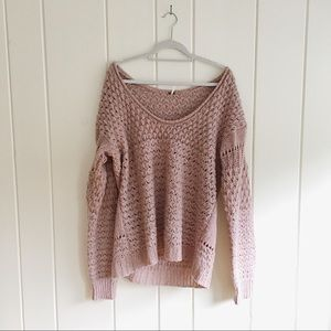 Free people off the shoulder tunic sweater